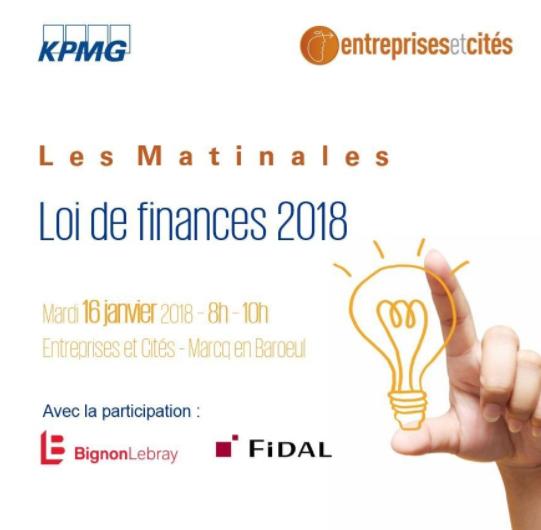 Matinale Kpmg Loi De Finances 2018 Entreprises Et Cites